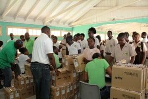 #nevis #technology #laptops #youth #children