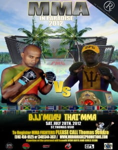 Renaldo Stuart (St Thomas USVI), Barbados' MMA Representative