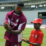 Edwards Giving Tips to A Youth Cricketer
