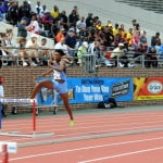 Ristananna Tracey of Edwin Allen winner of the 400m hurdles Championship in a record time of 56.17