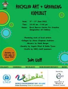 Recycled Art & Greening Exhibit 2012 flyer