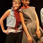 Rebecca strikes a pose with her model Abenah Gonzalez