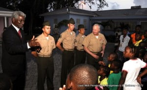 Yesterday (Tuesday) evening, U.S. Ambassador Larry Palmer joined US SOUTHCOM commander Major General John Croley for a visit to the Nightengale Children's Home to present toys and other supplies.