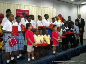 The pupils from Primary to Secondary who received Tablets as early Christmas gifts thanks to CIBC FirstCaribbean with engaging recipes like Saltfish & Breadnut Pie or cheesecakes using local fruits instead of overseas strawberries!