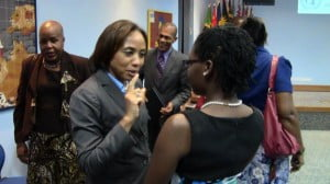 Cherisse Francis in conversation with UN Resident Coordinator Michelle Gyles-McDonnough