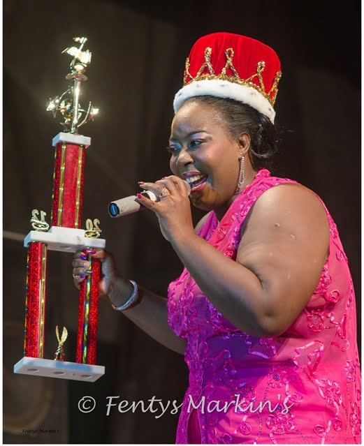 Chrystal Beckles of Barbados performs after winning the 2nd Euphony ...