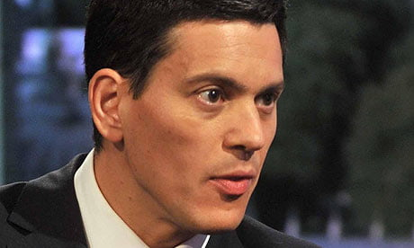 (IMAGE VIA - guardian.co.uk) David Miliband, Foreign Secretary of the United Kingdom from 2007-2010, is a Member of Parliament in London