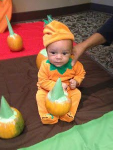 Baby Jack celebrates his first Halloween