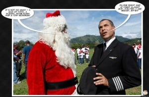 INQUIRING MINDS WANT TO KNOW - Is Santa gonna give the Seafood Minister some shrimp so Peppery it BURNS him both ways? Maybe next time georgie will pay attention when Media want a quick comment and he won't be so huffy on crustaceans? (CLICK FOR BIGGER)