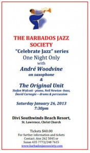 Andre Woodvine on saxophone & Original Unit