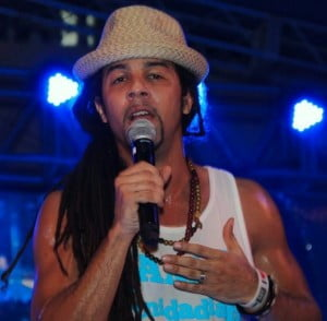 CIC past pupil turned Soca Star Kees Dieffenthaller of Kes the Band performing at the 2013 'Feting With The Saints'