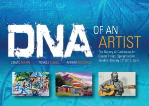 In Speightstown, Gallery of Caribbean Art is proud to present their first show for 2013 by three of Barbados ' well known Artists:- Denzil Mann, Neville Legall, and Ahmad Boodhoo!