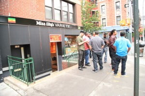 Industry execs & artists gathering outside of Miss Lily's Variety Store; NYC'S TREND-SETTING VARIETY SHOP & RESTAURANT JOINS FORCES WITH VP RECORDS TO LAUNCH NEW REGGAE SERIES