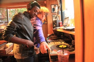 Singer Romain Virgo (featured on Vol. 1) selects tracks alongside DJ Rob Kenner at Radio Lily. (Photos by Alex Bartolomei.)