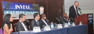 Panelists at the 2012 Invest Caribbean Now forum in NYC in June 2012. (Sharon Bennett image) Additional partners for ICN 2013 are One Caribbean Television, The PR Newswire, CaribPR Wire and News Americas Now.