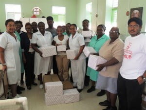 Digicel recently visited the St. Philip District Hospital and made a donation of much needed personal care items to the nursing staff there for use with the hospitals patients.