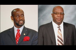"{IMAGE VIA - thestkittsnevisobserver.com} ""It is well documented that Dr. Harris and I are both opposed to the Bills regarding the Land for Debt Swap and the Increase in Senators, on the ground that they are contrary to the best interest of the people of St. Kitts and Nevis. And mindful as we are of the fact that the philosophy and tradition of the Labour Party has always been in keeping with the aspirations for empowerment of the masses of this our beloved country. We are committed servants to this philosophy."""