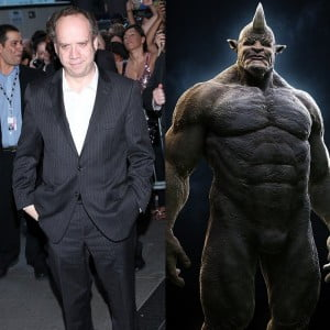 """{IMAGE VIA - aceshowbiz.com} There's no word on which version of """"The Rhino"""" Giamatti would be playing. Felicity Jones is also in talks for an unknown role (Black Cat?). Look at the 2 folks and decide if the casting crew have any idea what they're up to?"""