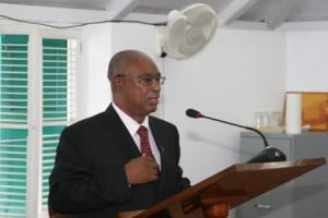 """{2010 FILE IMAGE} """"At this, the start of the year 2013, we hold the future of our beloved island truly in our hands. There's much going on around us, as an island, a federation and a region, that we have little or no ability to determine. But there is the aspect of political, social and economic stability on Nevis, that we can very much influence, and here is where imminent general elections for a new Nevis Island Administration come into sharp focus."""""""