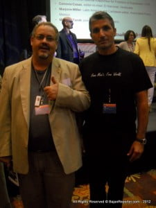 {FILE IMAGE - Bajan Reporter's Editor (Left, In Jacket) with Turkish Journalist, Nedim Sener (Right, looking like George Clooney)} The situation is especially dismaying, given that, for several years, Turkey's human-rights performance had been improving dramatically under Erdo?an's leadership. The use of torture had declined sharply. The cultural rights of the large Kurdish minority, including the right to use their own language, had advanced greatly. Military control over the civilian government had been ended. And more.