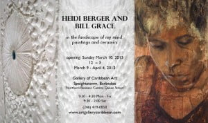 {CLICK FOR BIGGER} Just a little note to let you know the show Bill & Heidi are having is coming up at Gallery of Caribbean Art in St Peter on Sunday 10th March at 12 noon, so hold the date!