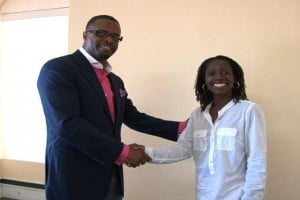 New Minister of Health in the Nevis Island Administration - Mark Brantley welcomes Haemotologist /Oncologist Dr. Erole Hobdy to his Bath Hotel Office at Bath Plain