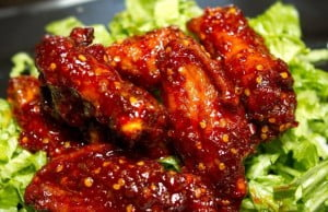 Bajan Merry Mango is a sweet, yet tangy wing sauce and Super Wings New York Serves up Two Tons of Wings Including Bajan Merry Mango Just in Time for Super Bowl
