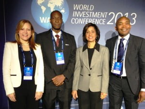 (L to R) Mrs. Mildred Santos, from the Dominican Republic Export and Investment Center (CEI-RD) and CAIPA's 2nd Vice-President; Mr. Ronald Theodore from the Grenada Industrial Development Corporation (GIDC) and CAIPA's President; Mrs. Sancia Bennett-Templer from JAMPRO, and CAIPA's 1st Vice-President, and Mr. McHale Andrew from Invest St. Lucia and CAIPA's Director
