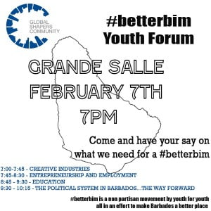 (CLICK FOR BIGGER) Mia Mottley and Donville Inniss have both confirmed for a face-to-face youth discussion on how we can make a #betterbim! FEB 7TH! LETS GO!