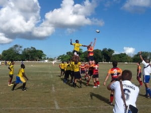 {FILE IMAGE - BARBADOS} The crew of the HMS Edinburgh can field both football and rugby teams, in keeping with the proud traditions of the Royal Navy. Last November, the ship's rugby team played against a team from Lisbon, Portugal, during their deployment to that country.