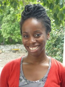 """Soon to be published in a new book of St. Martin poetry, Faizah Tabasamu (Rochelle Ward) won the ACT Award 2012 for """"Literature."""" (RW Photo)"""