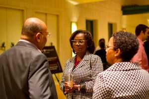 Royal Fidelity Pensions Manager- Mrs. Maureen Chung (centre) sharing light conversation with CFA attendees.