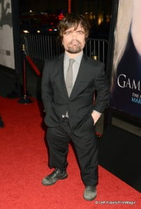 "Main Protagonist Peter Dinklage arrives to HBO's ""Game Of Thrones"" Los Angeles Premiere at TCL Chinese Theatre on March 18, 2013 in Hollywood, California.  (Photo by Jeff Kravitz/FilmMagic)"