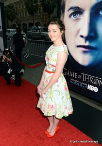"""HBO's Game of Thrones Season 3 premieres Sun March 31st, but ENTV has tons of videos coming before then. Be sure to subscribe! Actress Maisie Williams arrives to HBO's """"Game Of Thrones"""" Los Angeles Premiere at TCL Chinese Theatre on March 18, 2013 in Hollywood, California. (Photo by Jeff Kravitz/FilmMagic)"""