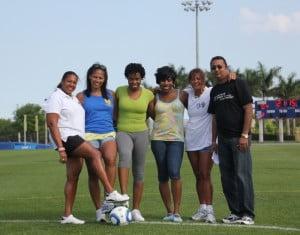 All Girls Schools Alumni Penalty Kick-off participants