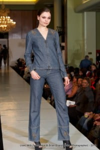 The styles are unique, savvy and racy for women who live an active lifestyle. During the presentation the models moved fluidly in each garment without a hint of restriction that can occurs in form fitted denim garments. The N.G.U designs are available is sizes 6 through 28, and retails between, $120.00 to $200.00.