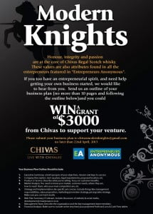 (CLICK FOR BIGGER) PLEASE SUBMIT YOUR BUSINESS PLAN TO chivasmodernknights@gmail.com NO LATER THAN 22nd APRIL, 2013