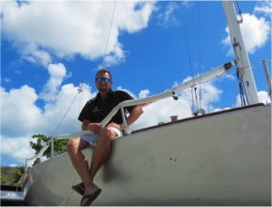 Andrew Waters will sail an IC-24 single-handed around the BVI. Raising awareness and funding for Vitiligo skin disorder. Believed to be the first recorded solo-navigation of the BVI.