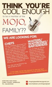 Please share with your Social Networks, and e-mail them at mojobarbados@gmail.com with your applications!