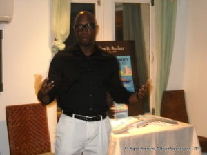"""Back in Barbados recently and speaking at Tapas restaurant, Archer opined;- """"So there is all this talk about being a servant and serving others. But what exactly is servant-hood? In essence servant-hood is living a life that is centered on serving others. For us, it means seeking to meet the real needs of the one he/she serves. It means willingly giving yourself to helping others and doing whatever it takes to accomplish what is best for another. When serving others, your primary focus should never be on self-love."""""""