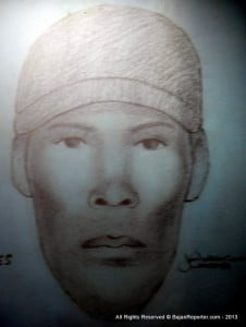 An alleged suspect - portrait rendition from Police