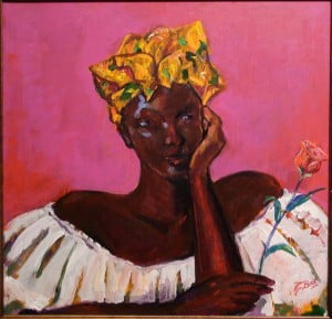 David Boothman (Trinidad) - Woman with the Rose; CaFA Fair is collaborative effort between Anderson Pilgrim, Diaspora Now; Loris Crawford, Art Off the Main/Savacou Gallery; and Dr. Gloria Gordon of Arts Caribbean with the mission of increasing awareness and appreciation of Caribbean culture through the distribution of information and presenting works of art. For updates please visit event website www.cafafair.com or call 646-267-8831
