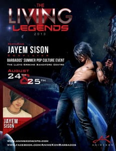 (CLICK FOR BIGGER) Jayem will be attending both days of the convention and like Team AK 2013, he is incredibly pumped to be featured as a Living Legend this year!