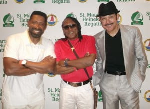 The Commodores - Walter Clyde Orange, William WAK King and James Dean J.D. Nicholas pose at the Regatta press conference
