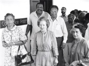 {IMAGE VIA - facebook.com/votingblp} The British High Commission announces that a Condolence Book for The Rt Hon The Baroness Thatcher, LG, OM, PC, FRS, former Prime Minister of the United Kingdom, will be open at the High Commission offices in Collymore Rock on Wednesday 10 to Friday 12 April from 9.00 am to 1.00 pm for those who wish to pay their respects.