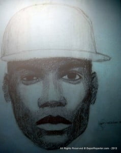 {POLICE ILLUSTRATION OF POTENTIAL SUSPECT - CA$H FOR GOLD} The viewing hours will again be from 10.00 am to 2.00 pm. This action is to facilitate on-going investigations.