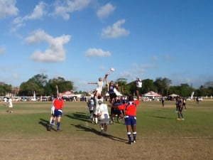 A missed penalty was the only chance in the first 20 minutes for either side to put points on the board. Then Barbados, from a solid drive from the forwards, moved into the heart of the Curaçao half and linked with the speedy backs to spin the ball wide. A dummy run from Nicholas Jackman distracting the Curaçao defence gave Sean Ward the opportunity to hand off his tackler and round two more defenders and score Barbados first points.