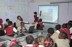 As part of their ongoing relationship with the school, Goddard Enterprises Ltd. (GEL) presented the educational and interactive software to the IT department to assist pupils with their studies.