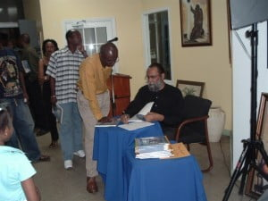 (FILE IMAGE: Mellow Moods Cafe Road Town, Tortola, BVI Book Signing) Date: Monday, April 8th, 2013  Time: 8 p.m.- 11:30 p.m.  Location: Limegrove Bar, Holetown, St. James  Hosted By: SUNROKK & RHY MINISTER  Band: THE KOLLECTIVE  Admission: FREE  Citrus Featured Author: RAY C. M. HARRIS