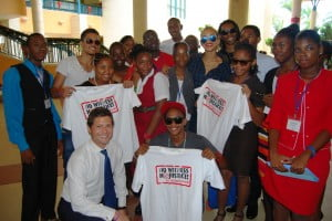 """This is an extension of the Embassy's """"No Witness No Justice"""" School Engagement program which focuses on the importance of public participation in the legal system and which has spawned a digital Caribbean Youth Network."""
